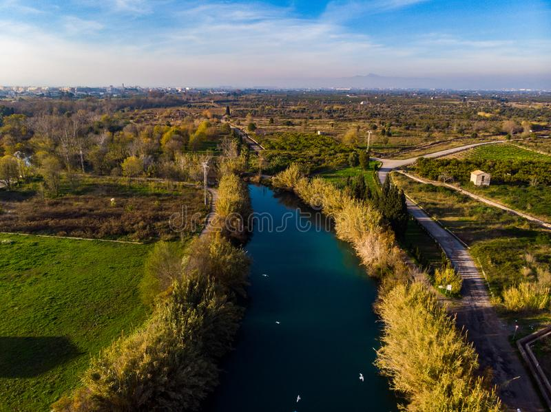 EL-Klumpen Fluss in Burriana spanien lizenzfreies stockfoto