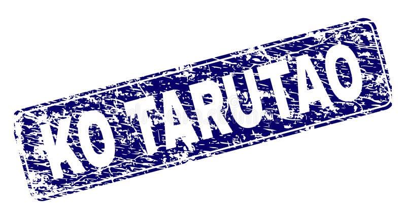 El knock-out rasguñado TARUTAO enmarcó el sello redondeado del rectángulo ilustración del vector