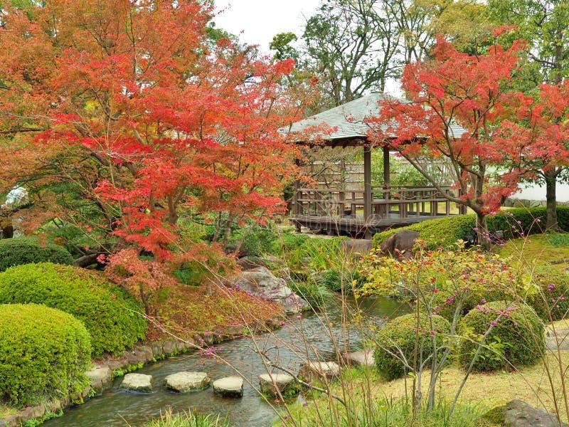 el Koko-en cultiva un huerto en otoño en Himeji, prefectura de Hyogo, Japón imágenes de archivo libres de regalías