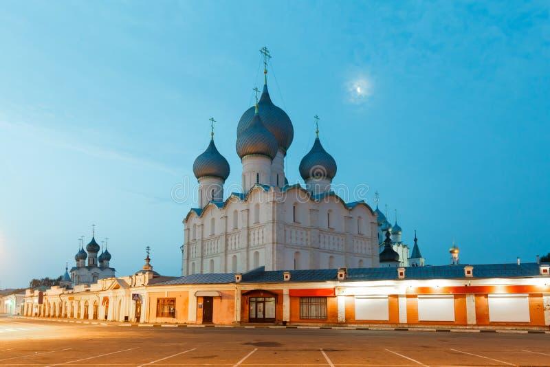 El Kremlin blanco en Rostov Veliky fotos de archivo libres de regalías
