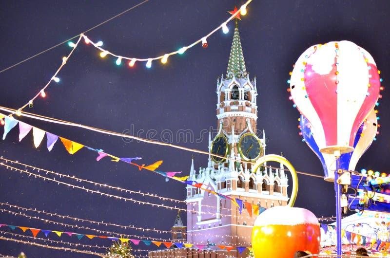 El Kremlin en el Año Nuevo fotografía de archivo libre de regalías