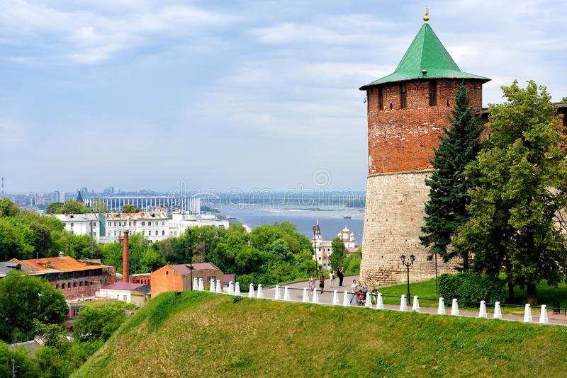 El Kremlin en Nizhni Novgorod imagen de archivo