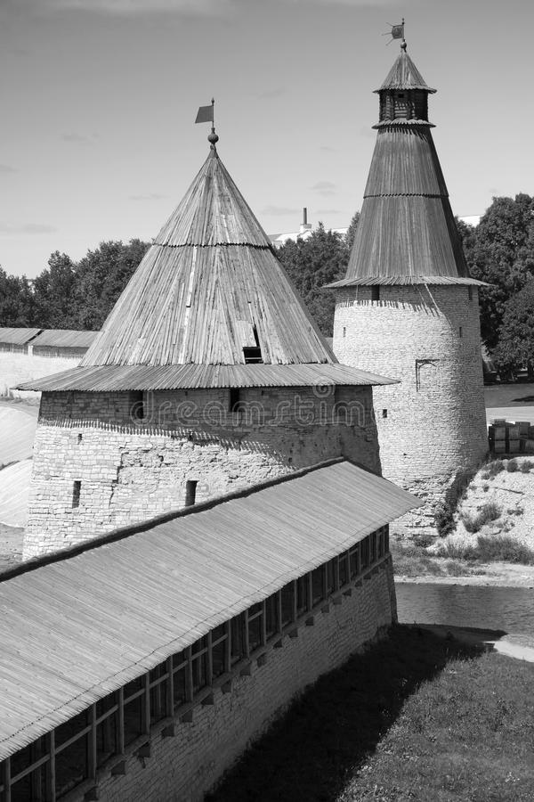 El Kremlin viejo de Pskov, Federación Rusa fotografía de archivo libre de regalías