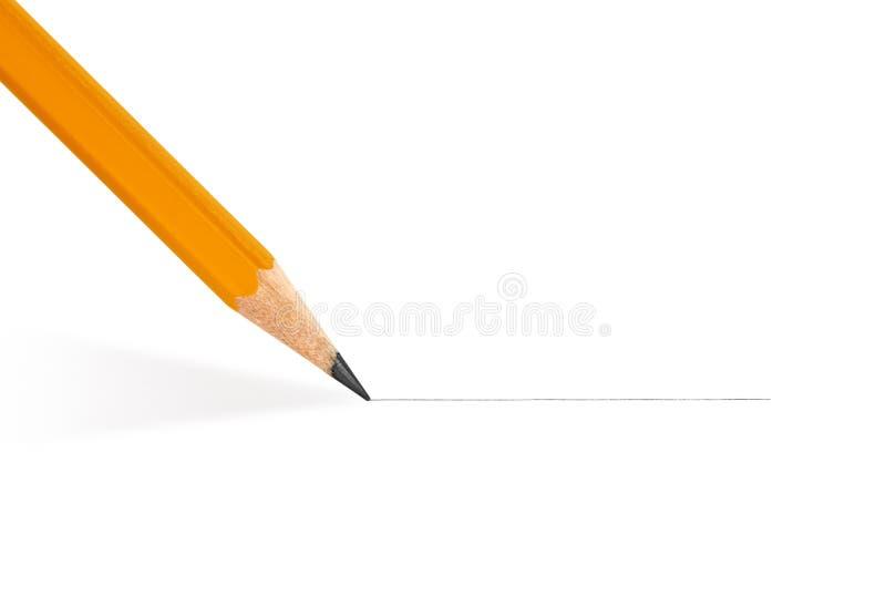 El lápiz dibuja una línea recta imagenes de archivo