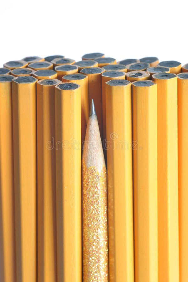 El lápiz más sostenido en el manojo fotos de archivo