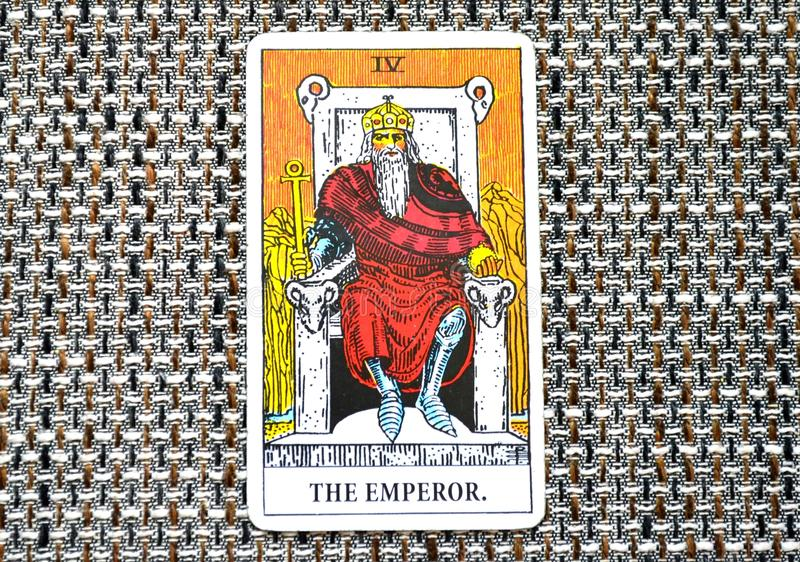 El líder Ruler King Boss del poder de la carta de tarot del emperador fotografía de archivo libre de regalías