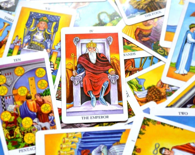 El líder Ruler King Governor Boss del poder de la carta de tarot del emperador stock de ilustración