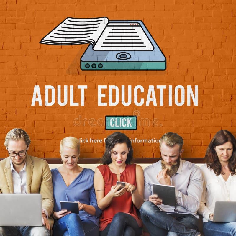 El límite de edad consultivo de la enseñanza para adultos bloqueó concepto fotos de archivo libres de regalías