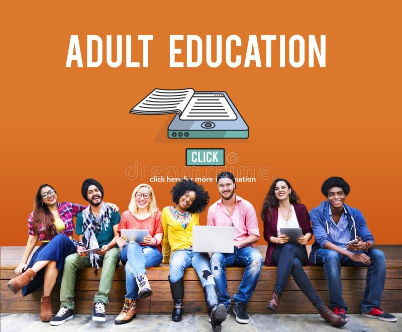 El límite de edad consultivo de la enseñanza para adultos bloqueó concepto imagen de archivo libre de regalías