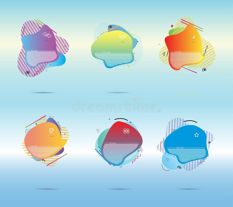 El líquido del vector del extracto del concepto del ejemplo del diseño se puede utilizar para el fondo libre illustration