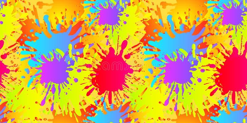 El líquido del vector forma el modelo inconsútil, salpicaduras de la pintura, plantilla del fondo ilustración del vector