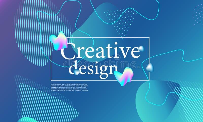 El líquido forma la composición Diseño ondulado de la cubierta imagen de archivo