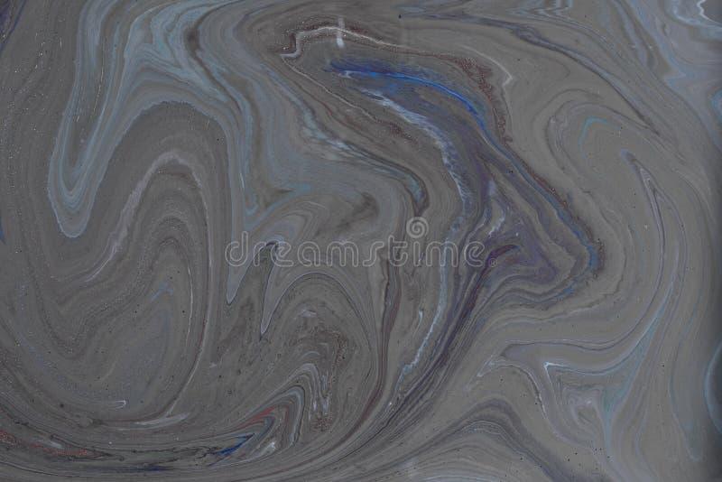 El líquido mezclado líquido de acrílico pinta el trabajo de arte imagen de archivo