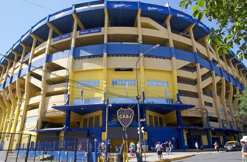 El La Bombonera del estadio en el La Boca, Buenos Aires, la Argentina foto de archivo libre de regalías
