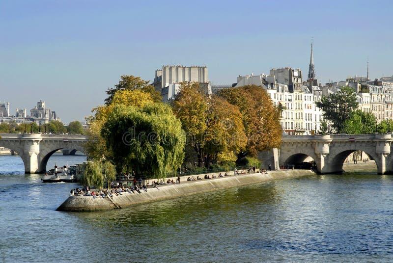 El ?la de Ile de cita? en París imagen de archivo libre de regalías