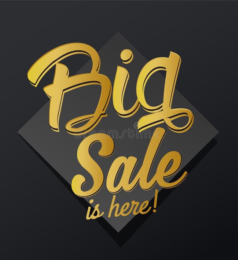 El ` la venta grande está aquí texto caligráfico de oro del ` libre illustration