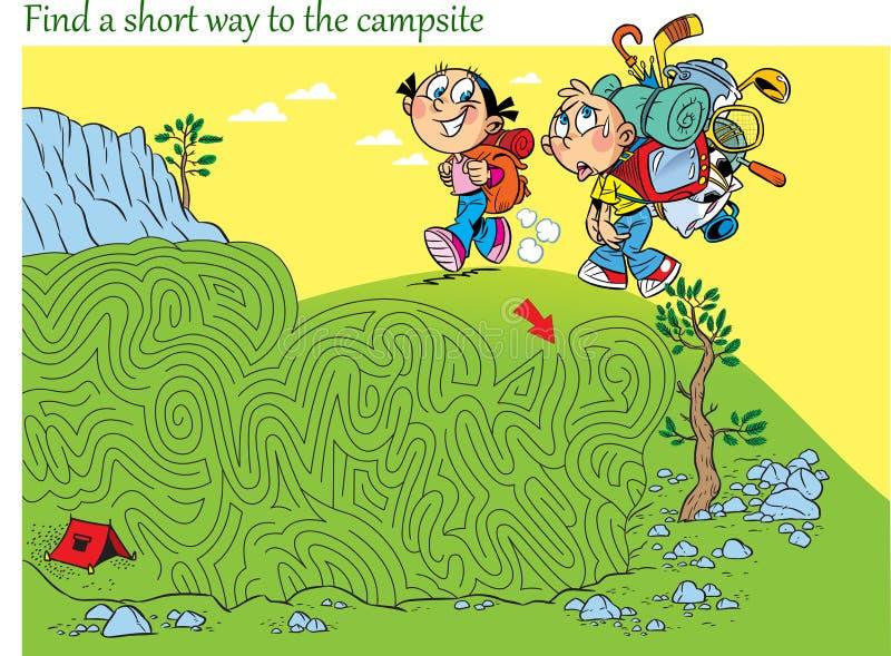 El laberinto encuentra la manera a acampar libre illustration
