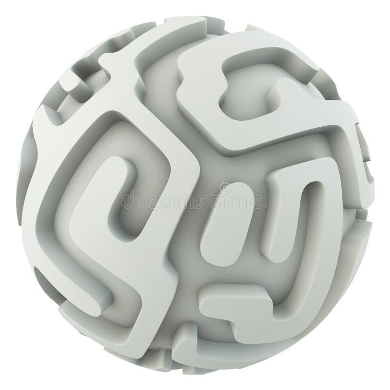 Laberinto infinito de la esfera libre illustration