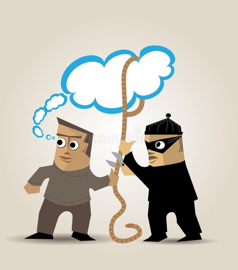 El ladrón de ideas stock de ilustración