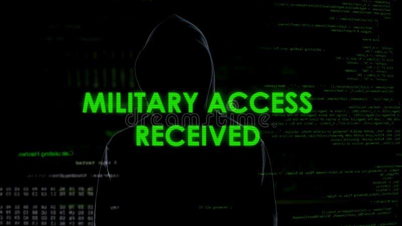 El ladrón del ciberespacio recibió el acceso militar, espiando el sistema de datos del gobierno foto de archivo