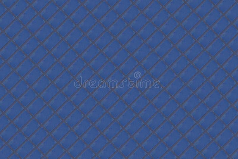 El ladrillo azul marino del bloque del fondo abstracto con el cemento alinea serie infinita del fondo del panel del dioganal fotografía de archivo libre de regalías