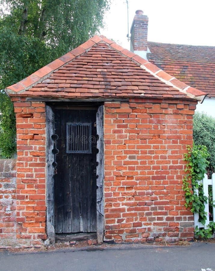 El ladrillo construyó la prisión o la picota en Essex imagen de archivo libre de regalías