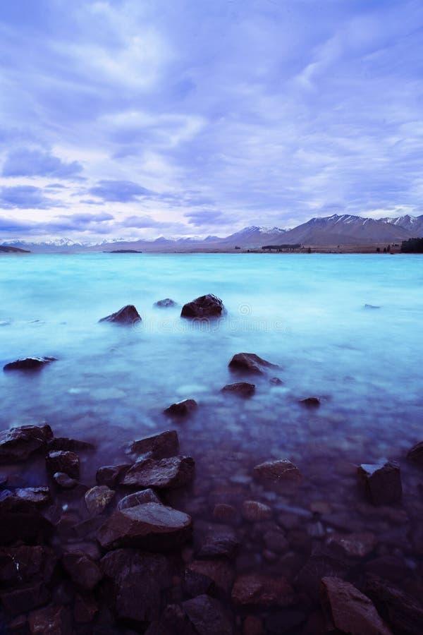 El lago asombroso Tekapo imagen de archivo