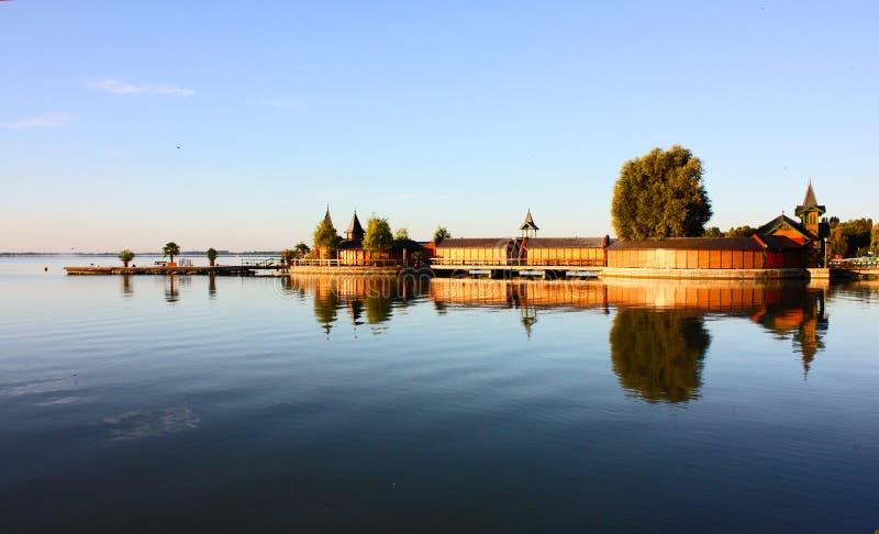 El lago Balathon en Hungría imagen de archivo