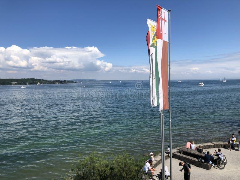 El lago de Constanza o Bodensee en Kreuzlingen, Suiza foto de archivo libre de regalías
