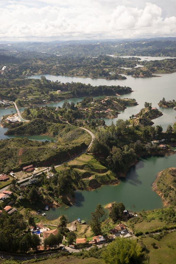 El lago de Guatape fotografía de archivo libre de regalías