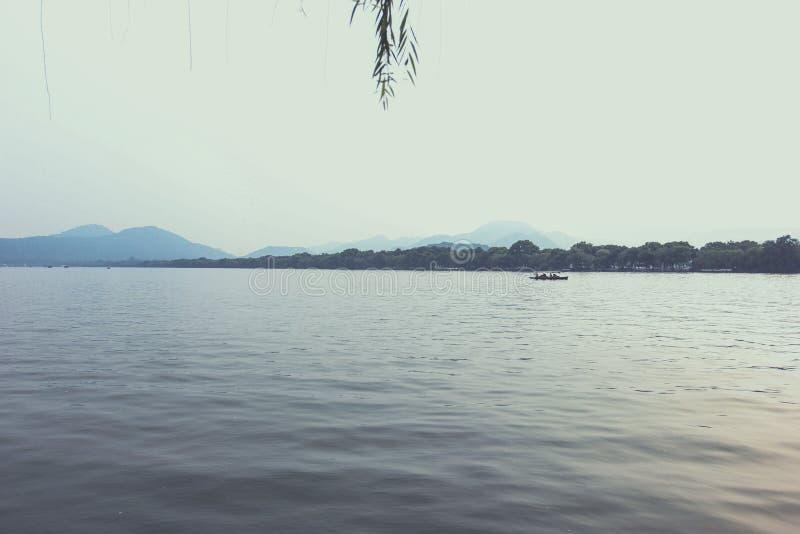 El lago del oeste, Hangzhou, China imagen de archivo