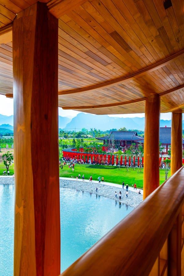 El lago en la tierra de Hinoki fotografía de archivo libre de regalías