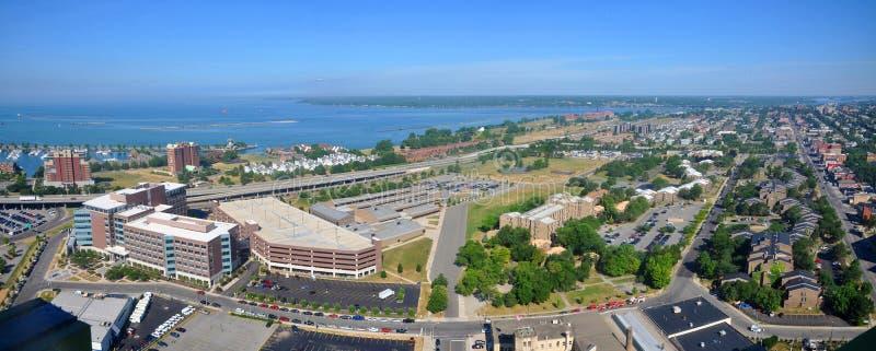 El lago Erie y ciudad del búfalo, Nueva York, los E.E.U.U. fotos de archivo libres de regalías