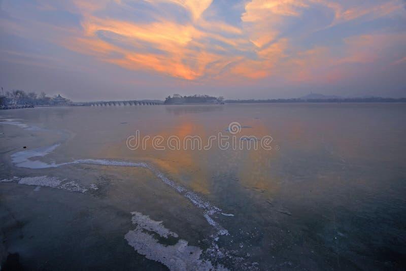 el lago kunming en hielo imagen de archivo libre de regalías