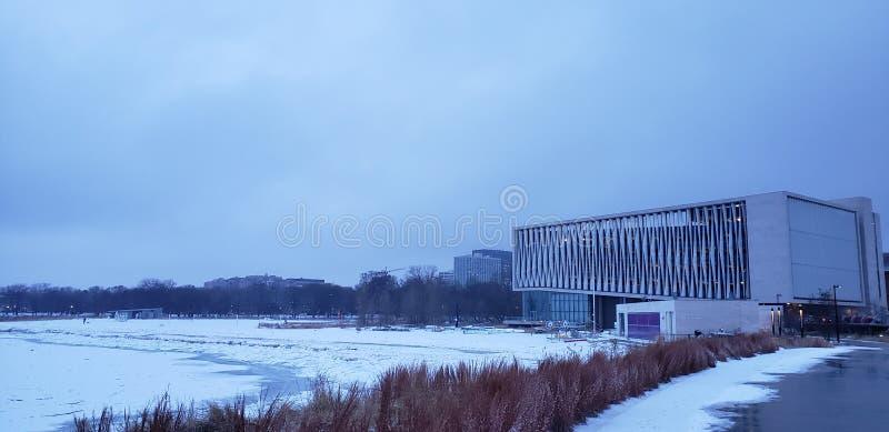 El lago Michigan con hielo fotos de archivo libres de regalías