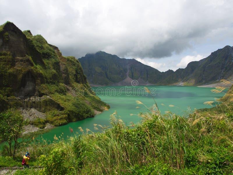 El lago sulfur del volcán de Pinatubo Viaje en Clark, filipino imágenes de archivo libres de regalías