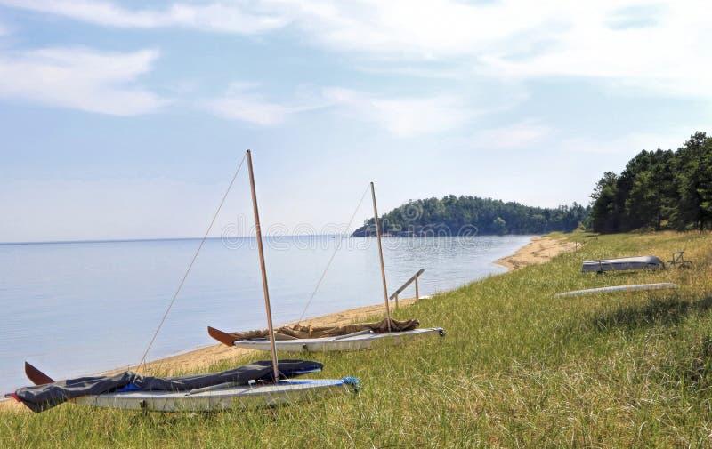 El lago Superior, Marquette, Michigan imagen de archivo