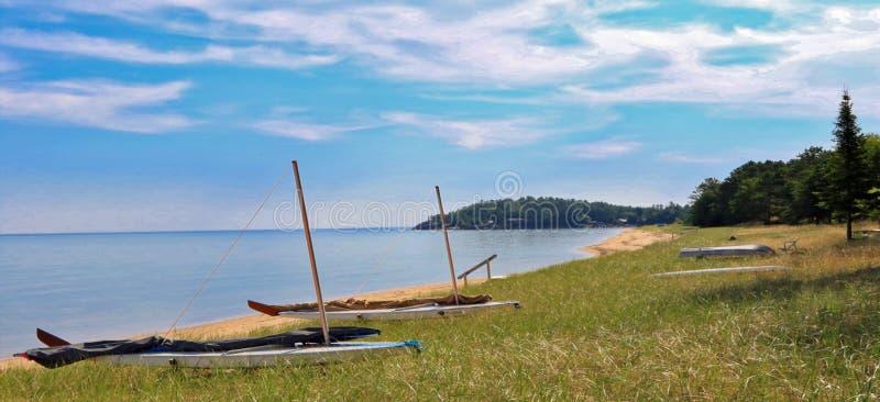 El lago Superior, Marquette, Michigan imagenes de archivo