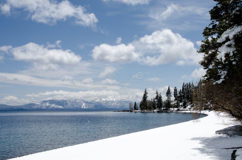 El lago Tahoe, último invierno foto de archivo libre de regalías