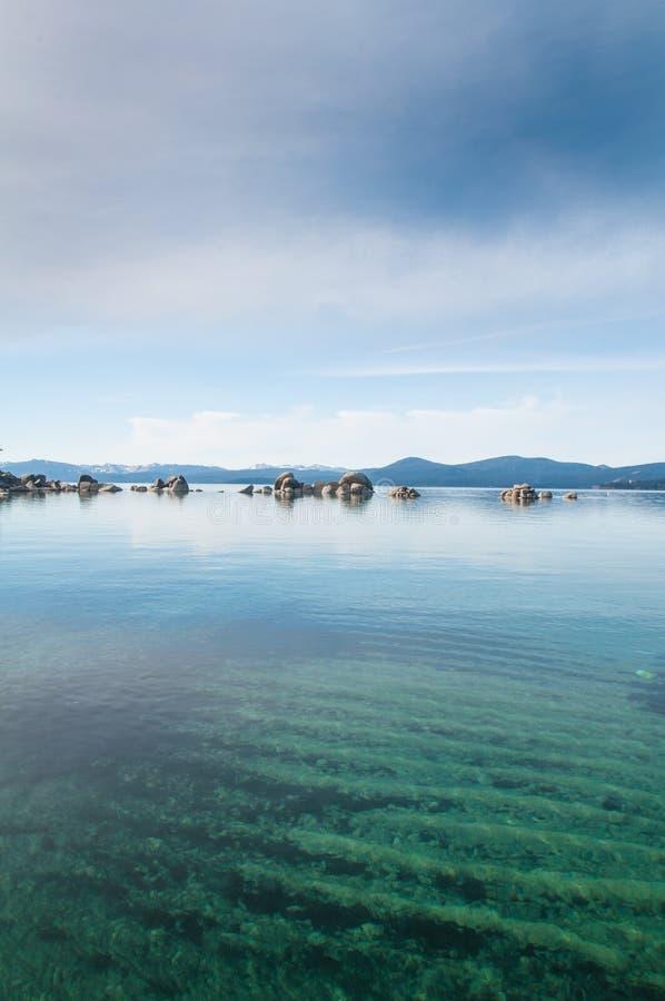 El lago Tahoe foto de archivo