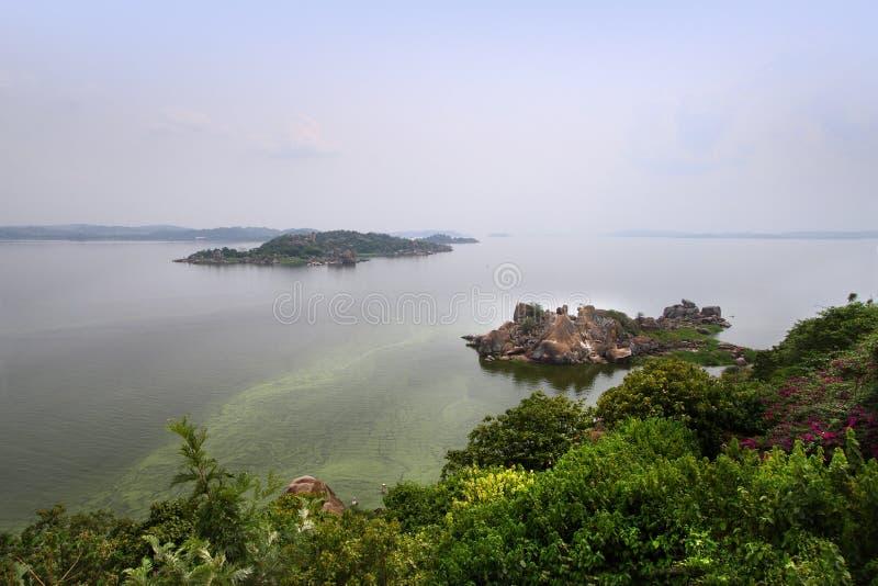 El lago victoria en la ciudad de Mwanza, Tanzania fotografía de archivo libre de regalías