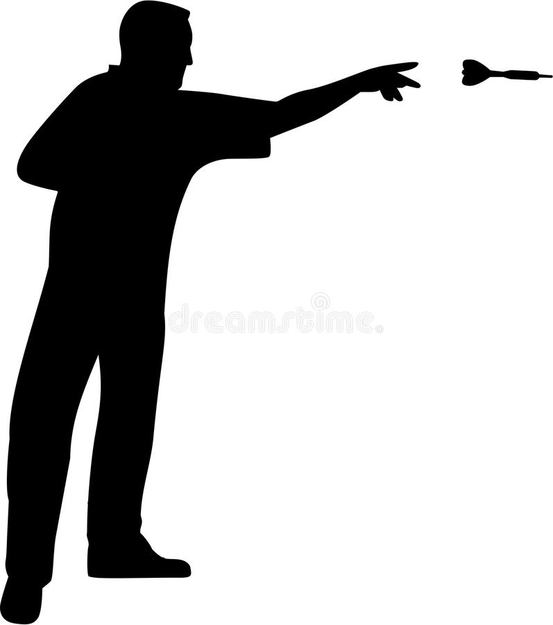 El lanzar del jugador de dardos libre illustration