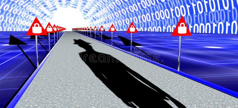El largo camino a la seguridad de información stock de ilustración