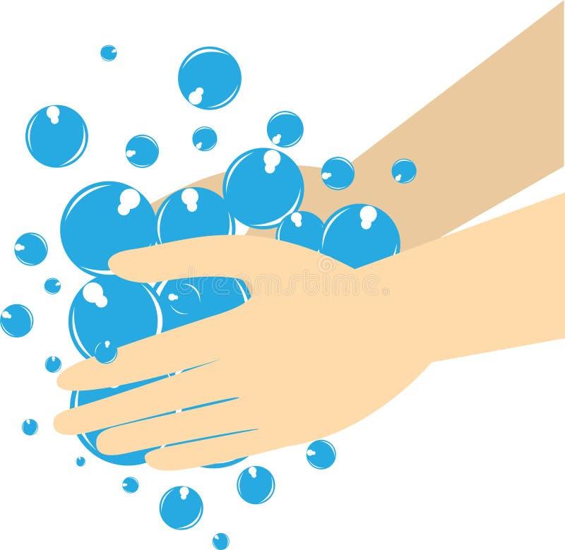 El lavado de la mano es muy importante stock de ilustración