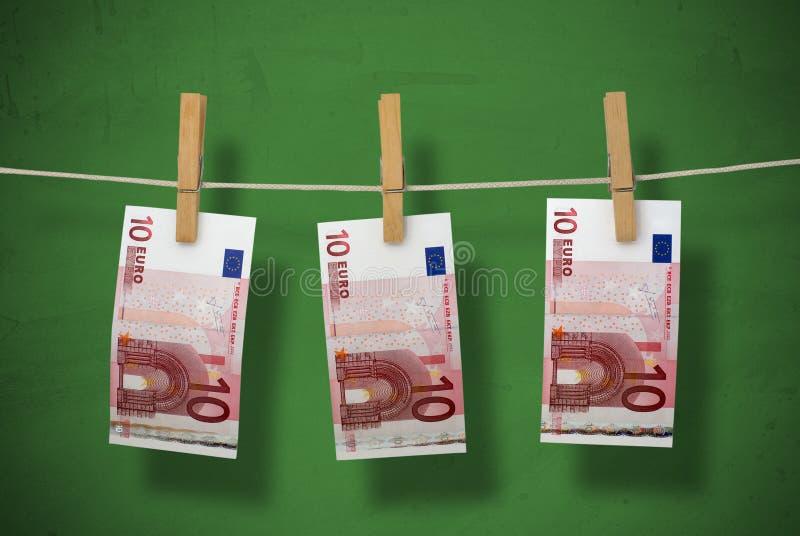 El Lavar Planchar De Dinero Fotografía de archivo libre de regalías