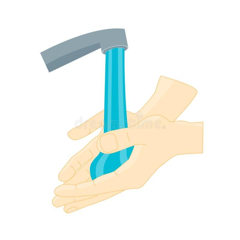 El lavarse de las manos Vector ilustración del vector