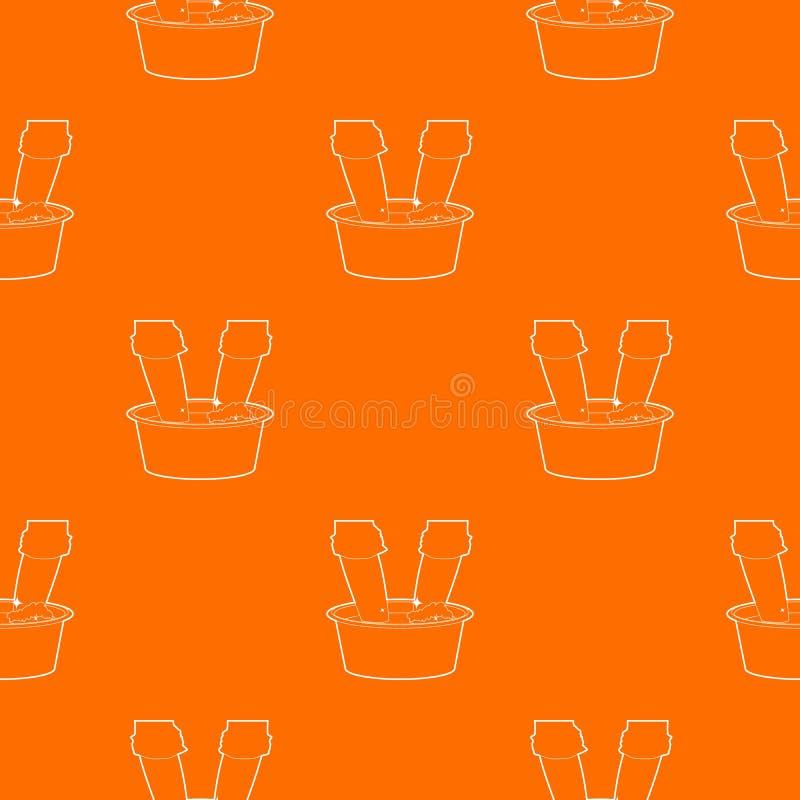 El lavarse en la naranja del vector del modelo del lavabo libre illustration