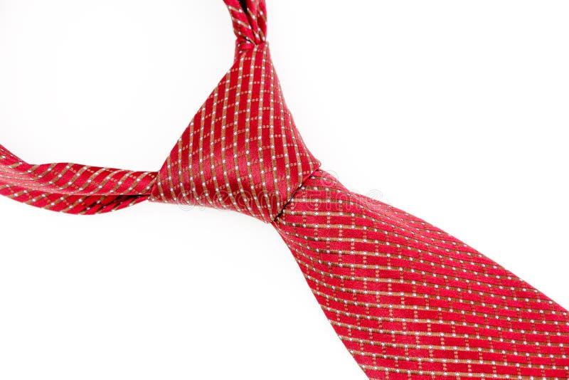 El lazo rojo anudó el Windsor doble imagen de archivo libre de regalías