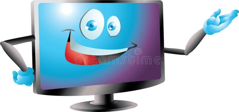 El lcd azul llevó la presentación del monitor de la TV libre illustration