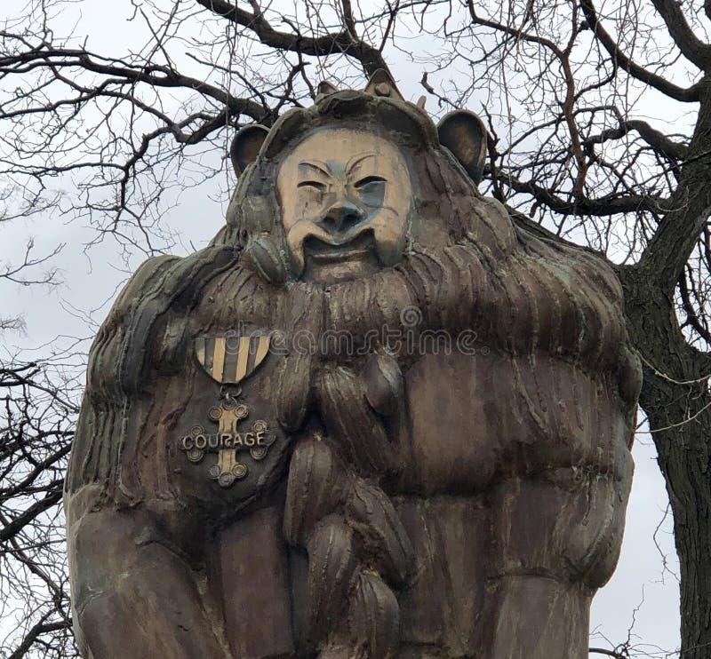 El león cobarde foto de archivo